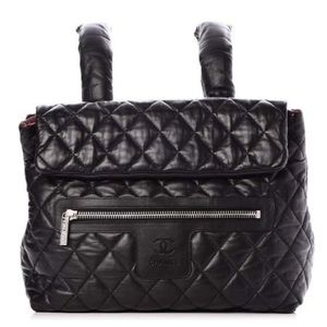 CHANEL Lambskin Quilted Coco Cocoon Large Backpack